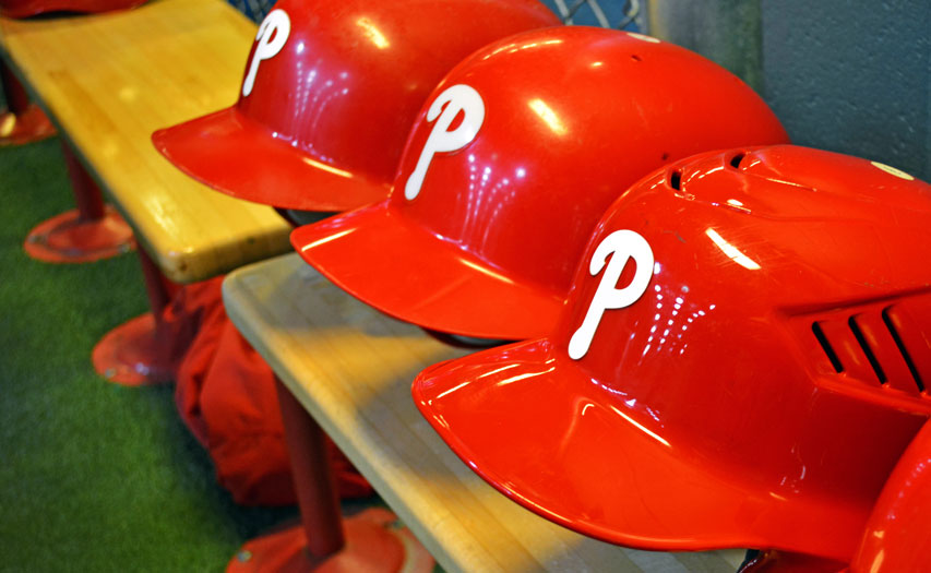 Phillies-Helmets