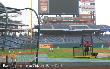 batting practice at citizens bank park
